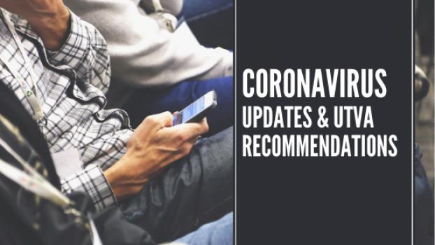 CORONAVIRUS UPDATES - UTVA POLICIES